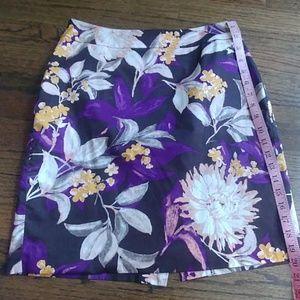 Ann Taylor Floral Skirt 8P